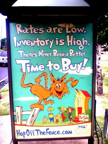 funny Dr. Seuss realty sign insults intelligence