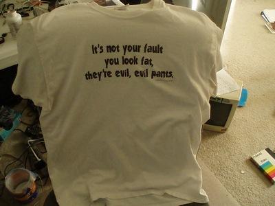 Evil evil pants shirt