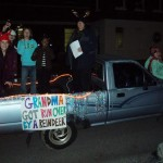 The Comma Clan and our Christmas float in midtown Memphis